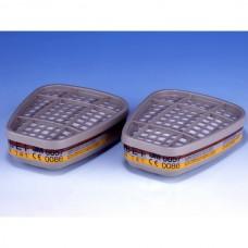 Фильтр 3М 6057А (2 шт в уп.) (органические и неорганические пары и кислые газы)