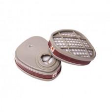 Фильтр 6510 Jeta Safety (2 шт в уп.) (с байонет. крепл. для защ. от орг. газов и паров A1)