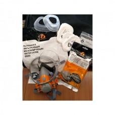 Полумаска 6500Р с фильтрами 5510 А1 с предфильтрами и с держателями Jeta Safety (комплект) (р-р М, для защиты дыхания (полумаска, фильтры A1 2шт, пред