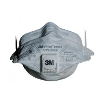 Респиратор 3М 9163 Vflex складн. с клап. FFP3D (до 50 ПДК) (Р-р M, средний)