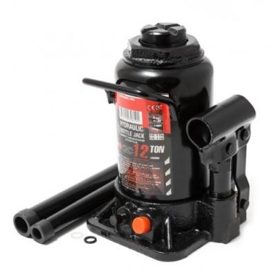 Домкрат бутылочный 12т низкопрофильный с клапаном+доп.ремкомплект FORCEKRAFT FK-T91207