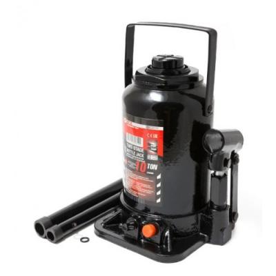 Домкрат бутылочный двухштоковый с клапаном 10т+доп.ремкомплект Forcekraft FK-TF1002