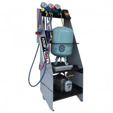 KraftWell KRW134AM ручная станция для заправки автомобильных кондиционеров