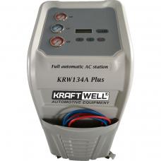 KraftWell KRW134A Plus автоматическая станция для заправки автомобильных кондиционеров