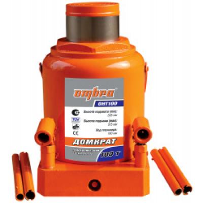 Домкрат гидравлический бутылочный Ombra OHT100 (100т)