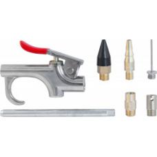 Пистолет продувочный с насадками в наборе Thorvik ABGK7 (7 предметов)